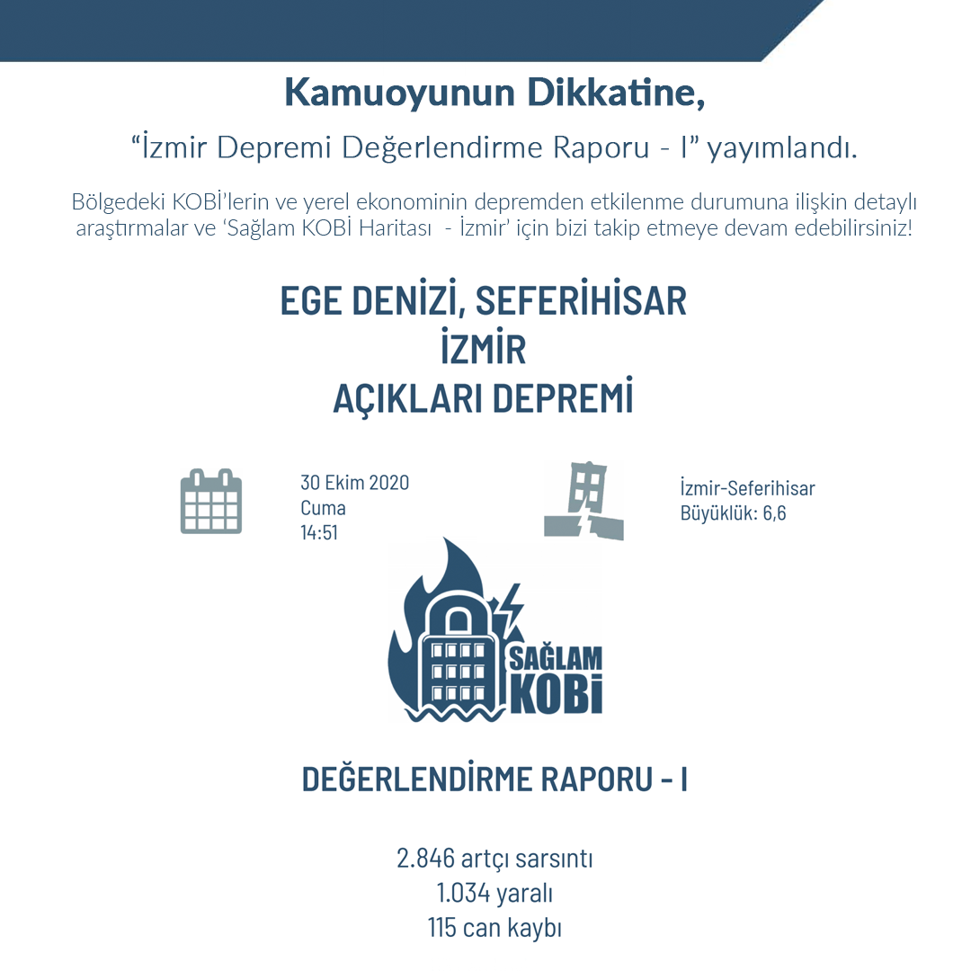 İzmir Depremi Değerlendirme Raporu - I